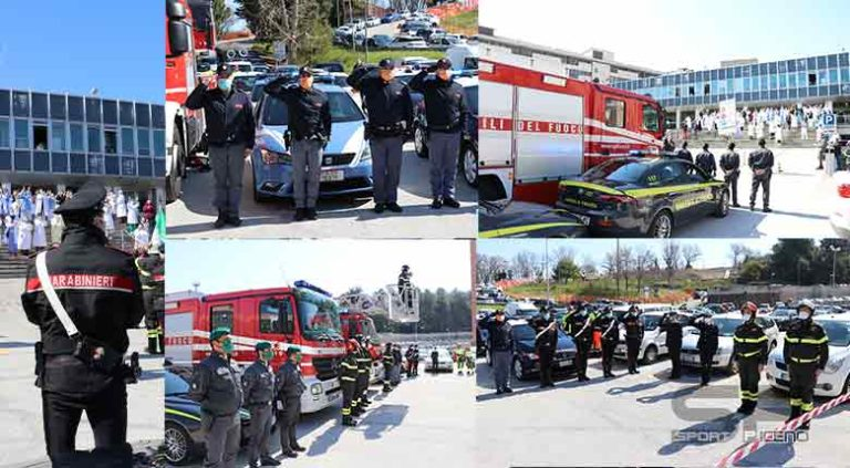 Vigili del fuoco – Solidarietà verso il personale sanitario