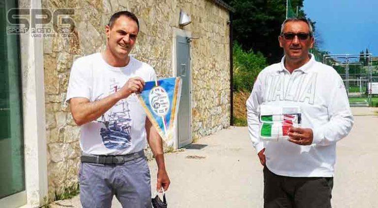 La lega di Ascoli Piceno, Mauro Agostini ha donato alla società 24 mascherine di protezione alla polisportiva Picena non vedenti