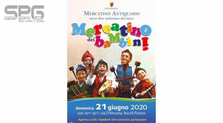 Ripartiamo dai bambini Domenica  21 giugno torna il mercatino a loro dedicato.