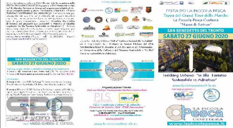 """San Benedetto del Tronto, sabato 27 giugno 2020  FESTA DELLA PICCOLA PESCA COSTIERA """"Nasse & Retine"""" Tappa del Grand Tour delle Marche"""