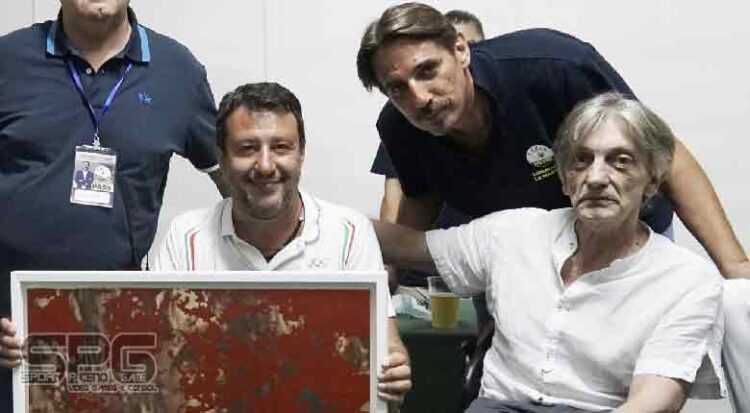 Opera Donata Ad Alberto Torregiani Attraverso Il Senatore Matteo Salvini