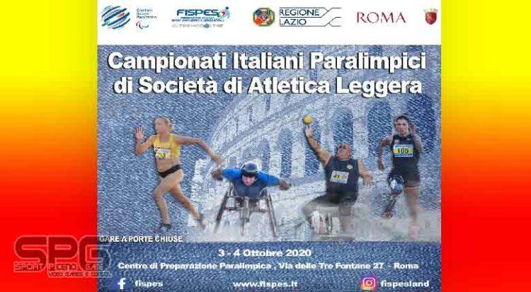 Atletica Paralimpica Sabato E Domenica I Societari A Roma Con Tutti I Big Azzurri