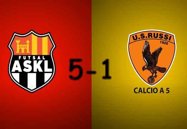 Serie B girone D 20/21 7° Giornata (recupero), Futsal ASKL – Russi C5 5-1