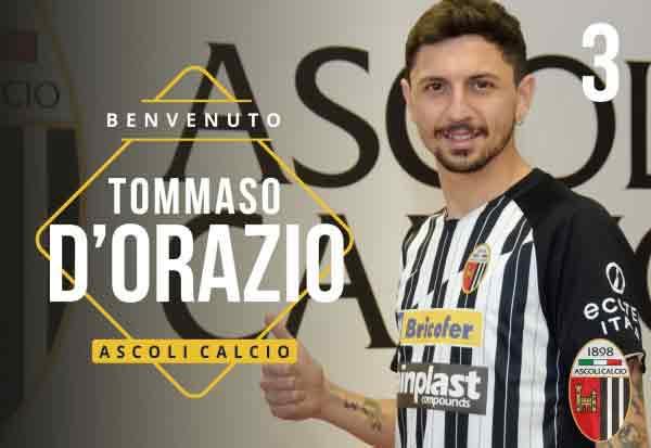 L'Ascoli Calcio 1898 FC S.p.A. accordo con la S.S.C. Bari per lo scambio Tommaso D'Orazio e Daniele Sarzi Puttini.
