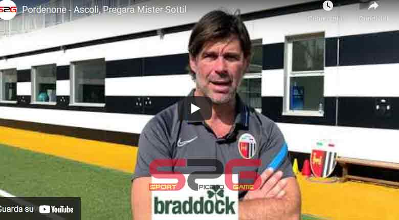 Pordenone - Ascoli, Pregara Mister Sottil